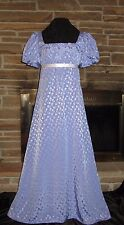 Regency Edwardian Jane Austen Emma Empire Waist Dress Gown Custom Made