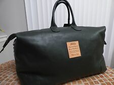 Terrida Luxury Travel Bag Green Leather Duffle Bag NWT