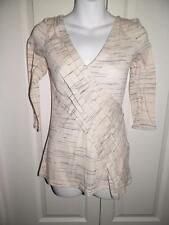 ANTHROPOLOGIE DELETTA Heathered Gathered Front Shirt XS X Small
