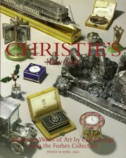 CHRISTIE'S RUSSIAN Art Silver FABERGE Forbes Collection Auction Catalog 2002