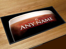Personalised Stout Beer label bar runner counter mat Pub bar mat ..ANY NAME..