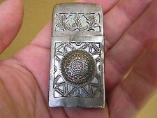 RARE ORNATE VINTAGE MEXICAN LA ESPERANZA STERLING SILVER CASED ZIPPO LIGHTER