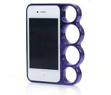 purple iphone 5 5s knuckle duster phone case quality  plastic cover