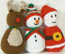 KNITTING PATTERN FOR SANTA, REINDEER AND SNOWMAN TOYS / BABY TOYS - CHRISTMAS