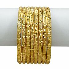 Indian Traditional Bollywood Goldplated Bracelet Bangle Set Wedding Jewelry 2*4