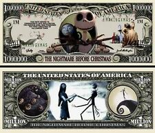 Nightmare Before Christmas Million Dollar Bill Fake Funny Money Novelty Note