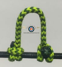 2 Pack- Speckled  Flo Yellow/Black  Archery Release Bow String D Loop, BCY #24