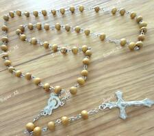 Scented wood beads cross necklaces pendant Includes box fashion free shipping