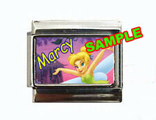 Tinkerbell w/ ANY NAME #1 Custom Italian Charm Disney