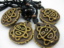 wholesale lot 12 pcs yak bone Sexy turtle sun smiling face pendant necklace