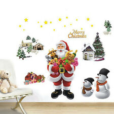 Xmas Tree Santa Claus Snowman Christmas Decor Wall Window Stickers Mural Decals