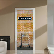 "Harry Potter Platform 9 3/4 Door Sticker Mural 30x79"" (77x200cm) decoration wall"