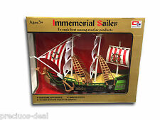 Kids Play Moving Pirate Ship with Wheel Pirate Music pull Along Ship Toy Set