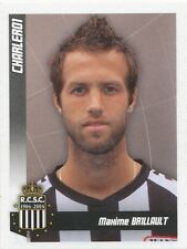 N°087 MAXIME BRILLAULT # FRANCE SPORTING CHARLEROI STICKER PANINI FOOTBALL 2011