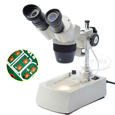 20X-40X Stereo Binocular Microscope for Mobile Phone Repair with LED Top Light A
