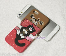 Cute Matte Cat story red bed nap sleep soft rubber case cover skin iphone 5/5s