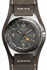 NEW BROWN FILSON THE JOURNEYMAN GMT WATCH SHINOLA LEATHER CAMPER BROWN