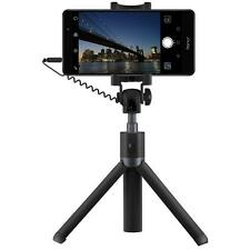 Huawei Honor Cellphone Tripod Stand Selfie Stick Audio Cable Control - Black