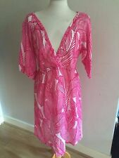 NWOT PINK & WHITE LIGHTWEIGHT COTTON MATERNITY DRESS BY TOPSHOP SZ LARGE