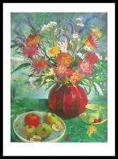 Nel Whatmore Rote Vase Poster Bild Kunstdruck mit Alu Rahmen in schwarz 80x60cm