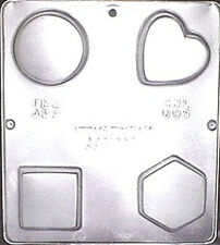 """Assorted Shapes (approx. 2 1/4"""" each) Mold for Soap or Choc. Candy Mold 008 NEW"""