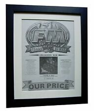 FM+Tough It Out+TOUR POSTER+AD+ORIGINAL+1989+QUALITY FRAMED+EXPRESS GLOBAL SHIP