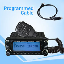 Zastone ZT-D9000 50W Car Walkie Talkie 50km UHF VHF Mobile Car Radio with Cable