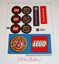 Lego STICKERS Hockey & Lego Logo 3579 Sports NHL * NEW Condition