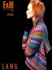 FAM Color - Fatto a Mano #201 - Lang Yarns Knitting Pattern Book - 21 Designs