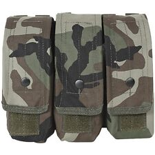 Voodoo Tactical 5.56 .223 7.62 Triple Magazine Mag Pouch MOLLE Woodland Camo