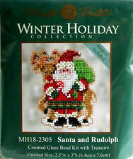 Mill Hill Counted Cross Stitch Bead Kit Christmas 'Santa and Rudolph' 18-2305