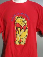 Disney's Winnie the Pooh red T-shirt sewn size XL Pooh Felt a Laugh Coming On