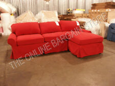 Pottery Barn PB Basic Modular Sofa Couch Sectional Sierra Red slipcover chaise