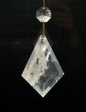 Rock Crystal Quartz Chandelier Pendants Kite Rhombus 75mm