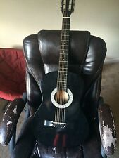 """38"""" mahar black acoustic guitar with"""