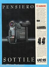 QUATTROR992-PUBBLICITA'/ADVERTISING-1992- CANON - UC15 8mm VIDEO CAMCORDER