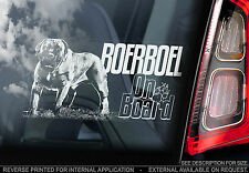 Boerboel - Car Window Sticker - South African Mastiff Dog Boer Bull Sign - TYP3