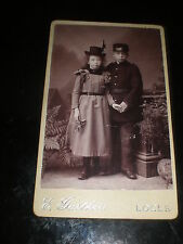 Cdv photograph children hats Gartheis at Le Locle Switzerland c1890s Rf 507(16)