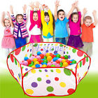 Foldable Kids Children Ocean Ball Pit Pool Game Play Toy Tent Baby Safe Playpen
