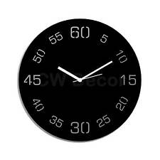 Creative Width Decor Point Sixty Black Wall Clock