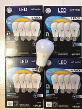 16 PACK GE LED 60W = 10W Soft White Dimmable 60 Watt Equivalent A19 2700K bulbs
