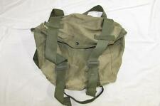 Vtg 40s WW2 Large US Army Canvas Field Pack Bag Mussette W/ Snaps Well Worn
