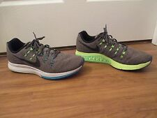 Used Worn Size 13 Nike Air Zoom Structure 19 Shoes Gray Blue Volt Black Lime