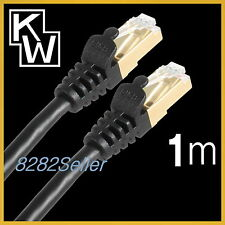 1M 3FT CAT7 Black STP LAN Direct Ethernet Network Cable Shielded 10Gbps Patch