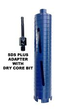 "COMBO: 3"" Dry Diamond Core Drill Bit for Concrete with SDS Plus Adapter"