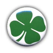 Badge TREFLE à quatre feuilles four-leaf clover chance bonheur lucky pop Ø25mm