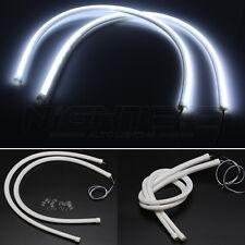 2x 60cm LED Schlauch Tagfahrlicht Lampe Strip Streifen DRL Leuchte Weiß