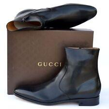 GUCCI New sz UK 16 - US 17 Authentic Designer Mens Ankle Shoes Boots zip black