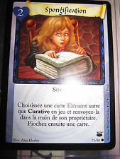 HARRY POTTER TCG GAME CHEMIN DE TRAVERSE SPONGIFICATION 71/80 COM FRANCAIS NEUF