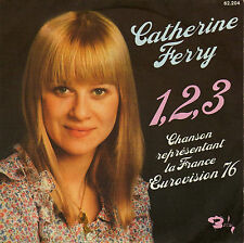 CATHERINE FERRY 1,2,3 EUROVISION 76 / PETIT JEAN (BALAVOINE) FRENCH 45 SINGLE